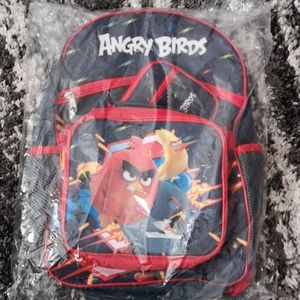 NWT Angry Birds 3-Piece Backpack Set w/ lunch bag